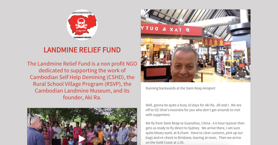 Landmine Relief Fund Blog